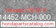 Honda 14452-MCH-000 genuine part number image