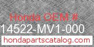 Honda 14522-MV1-000 genuine part number image