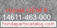 Honda 14611-463-000 genuine part number image