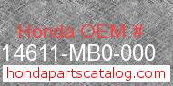 Honda 14611-MB0-000 genuine part number image