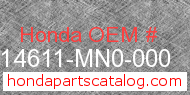Honda 14611-MN0-000 genuine part number image