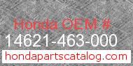 Honda 14621-463-000 genuine part number image