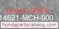 Honda 14621-MCH-000 genuine part number image