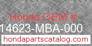 Honda 14623-MBA-000 genuine part number image