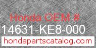 Honda 14631-KE8-000 genuine part number image