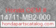 Honda 14711-MB2-000 genuine part number image