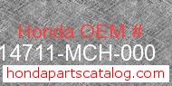 Honda 14711-MCH-000 genuine part number image