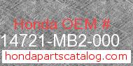 Honda 14721-MB2-000 genuine part number image