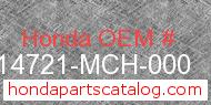 Honda 14721-MCH-000 genuine part number image