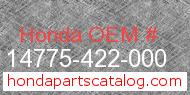 Honda 14775-422-000 genuine part number image