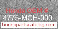 Honda 14775-MCH-000 genuine part number image