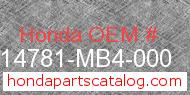 Honda 14781-MB4-000 genuine part number image