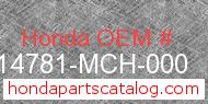 Honda 14781-MCH-000 genuine part number image