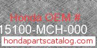 Honda 15100-MCH-000 genuine part number image