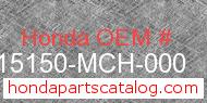 Honda 15150-MCH-000 genuine part number image