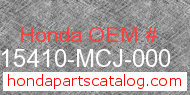 Honda 15410-MCJ-000 genuine part number image