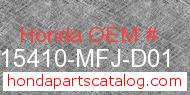 Honda 15410-MFJ-D01 genuine part number image