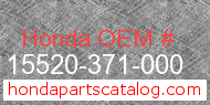 Honda 15520-371-000 genuine part number image
