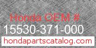 Honda 15530-371-000 genuine part number image