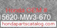 Honda 15620-MW3-670 genuine part number image