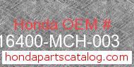 Honda 16400-MCH-003 genuine part number image