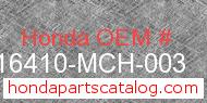 Honda 16410-MCH-003 genuine part number image