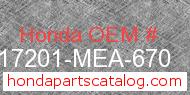 Honda 17201-MEA-670 genuine part number image