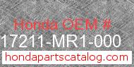 Honda 17211-MR1-000 genuine part number image