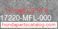 Honda 17220-MFL-000 genuine part number image