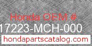Honda 17223-MCH-000 genuine part number image