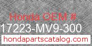 Honda 17223-MV9-300 genuine part number image