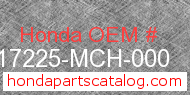 Honda 17225-MCH-000 genuine part number image
