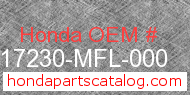 Honda 17230-MFL-000 genuine part number image