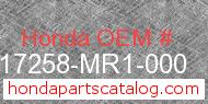 Honda 17258-MR1-000 genuine part number image