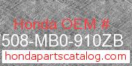 Honda 17508-MB0-910ZB genuine part number image
