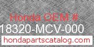 Honda 18320-MCV-000 genuine part number image
