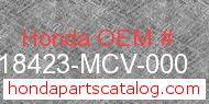Honda 18423-MCV-000 genuine part number image