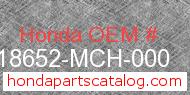 Honda 18652-MCH-000 genuine part number image