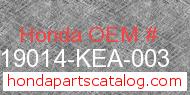 Honda 19014-KEA-003 genuine part number image