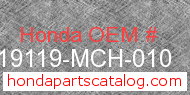 Honda 19119-MCH-010 genuine part number image