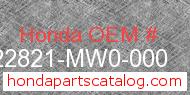 Honda 22821-MW0-000 genuine part number image
