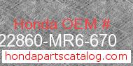 Honda 22860-MR6-670 genuine part number image