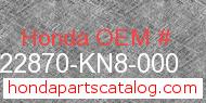 Honda 22870-KN8-000 genuine part number image