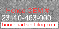 Honda 23110-463-000 genuine part number image