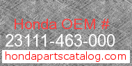 Honda 23111-463-000 genuine part number image