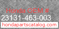 Honda 23131-463-003 genuine part number image