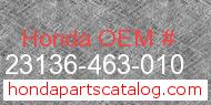 Honda 23136-463-010 genuine part number image