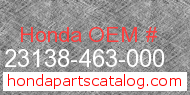 Honda 23138-463-000 genuine part number image