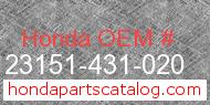 Honda 23151-431-020 genuine part number image