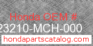 Honda 23210-MCH-000 genuine part number image